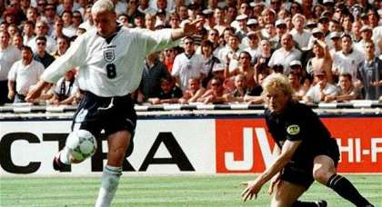 Who could forget Paul Gascoigne's wonder goal against Scotland – and that celebration?