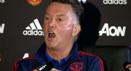 VIDEO: The singing manager – LVG – has previous. Here's his birthday song…