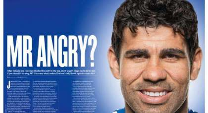 Angry no more: Diego Costa puts Chelsea in the box seat at Selhurst – as we predicted