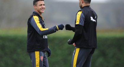Alexis Sanchez all smiles in Arsenal training as Arsene Wenger denies dressing room row