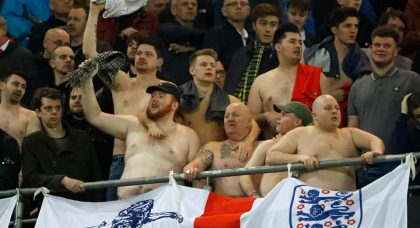 A moronic minority of idiots are tarnishing the reputation of decent England fans…again!