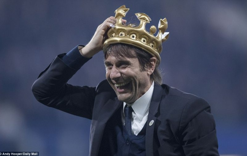 Chelsea boss Antonio Conte dines out in style after achieving his first Gola!
