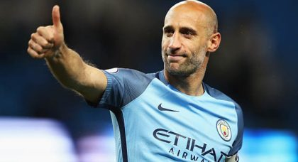 Pablo Zabaleta set to join West Ham after his emotional exit at Manchester City